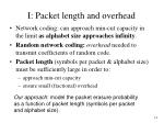 i packet length and overhead