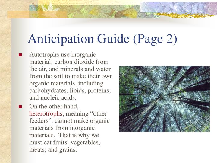 Anticipation Guide (Page 2)
