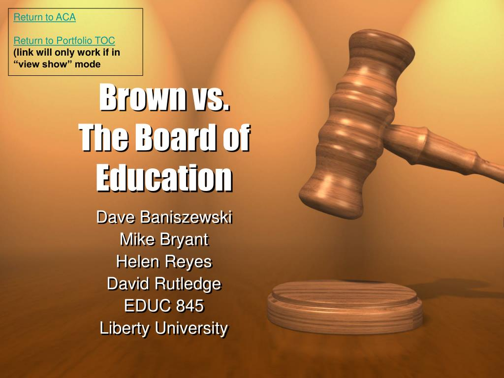 brown vs the board of education l.