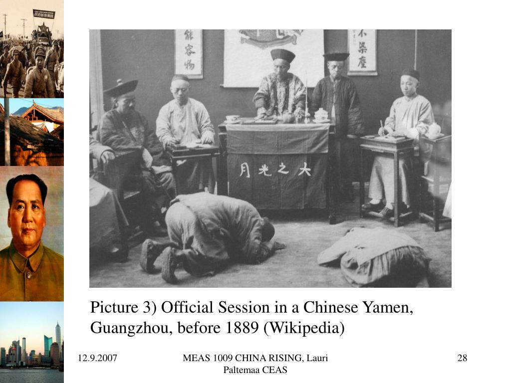 Picture 3) Official Session in a Chinese Yamen,