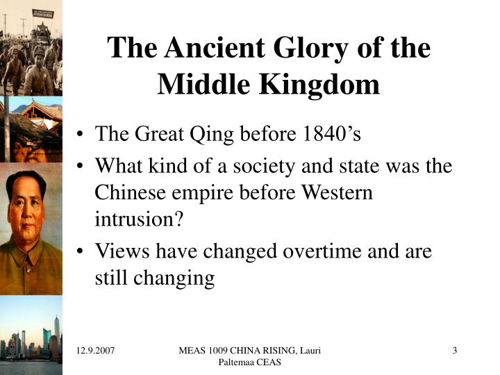 The ancient glory of the middle kingdom