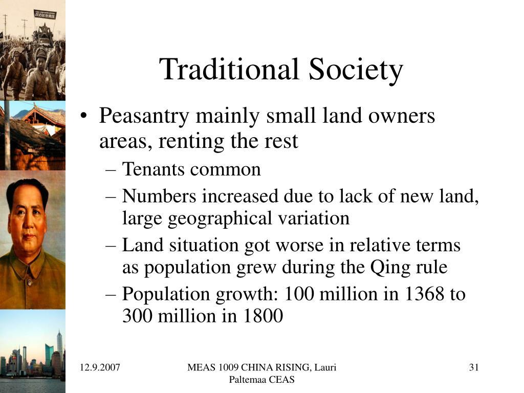 Traditional Society