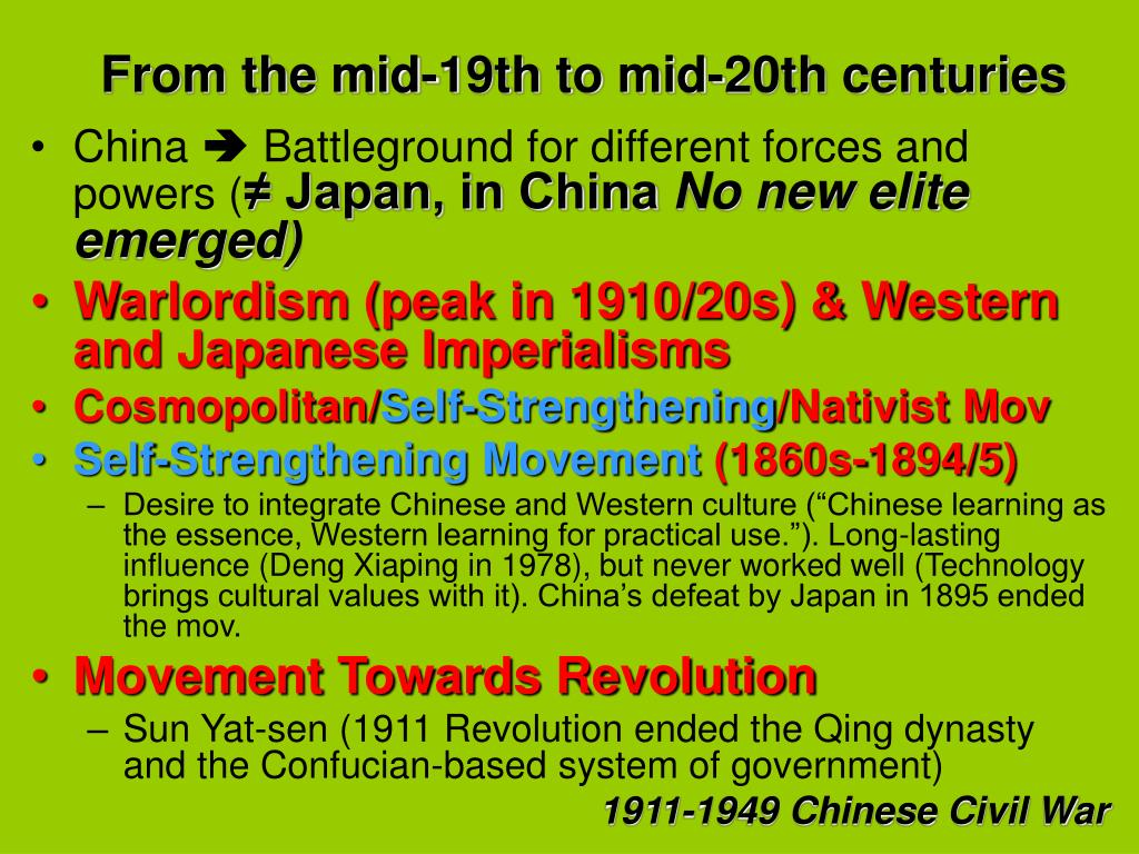 From the mid-19th to mid-20th centuries