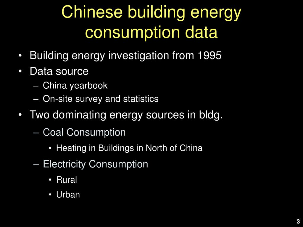 Chinese building energy consumption data