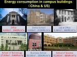 energy consumption in campus buildings china us
