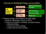 survey on building energy consumption
