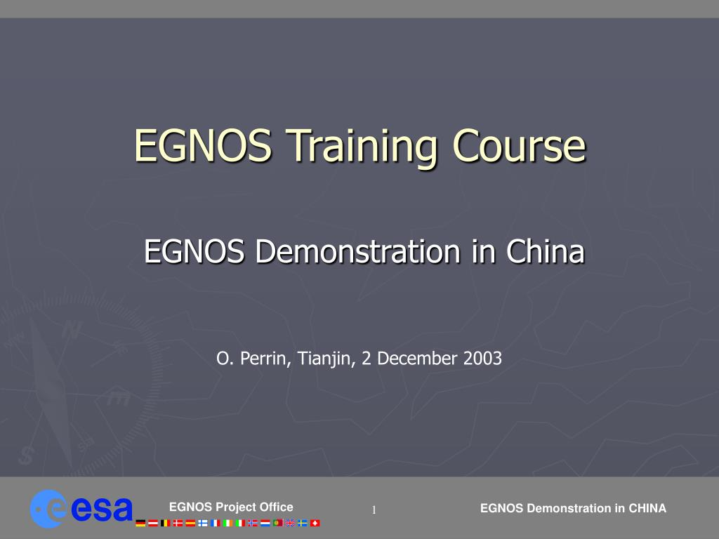 egnos training course l.