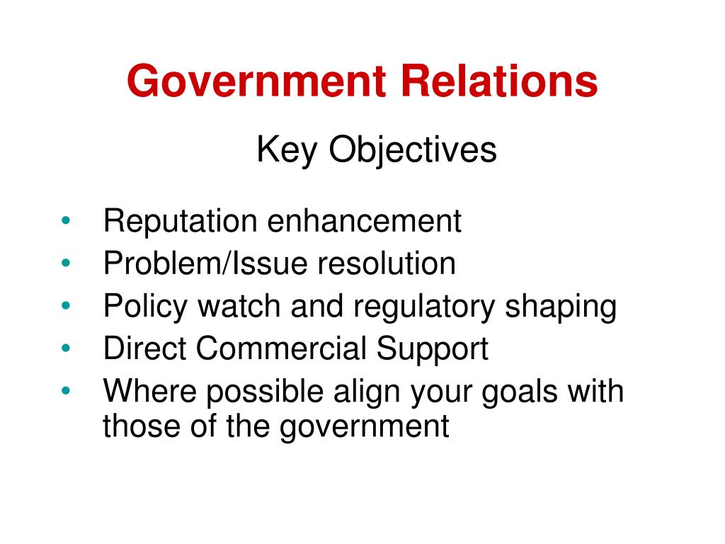 Government Relations