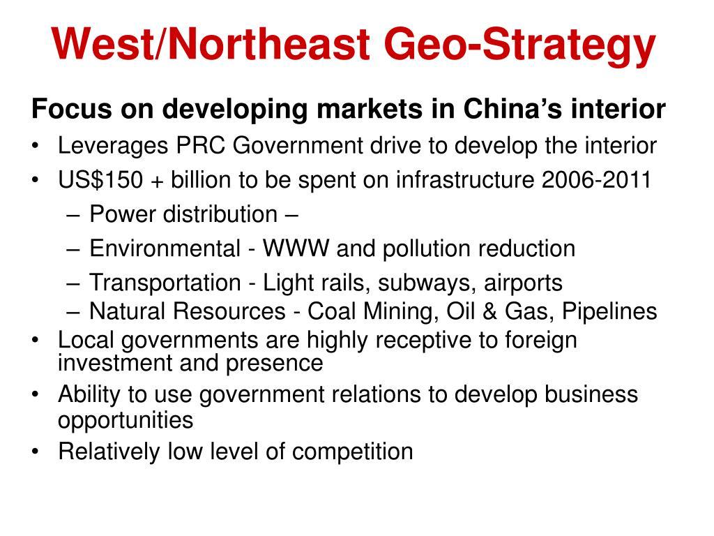 West/Northeast Geo-Strategy