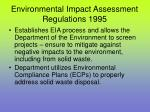 environmental impact assessment regulations 1995