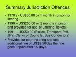 summary jurisdiction offences