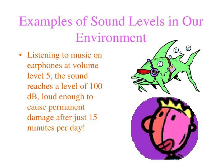 Examples of Sound Levels in Our Environment