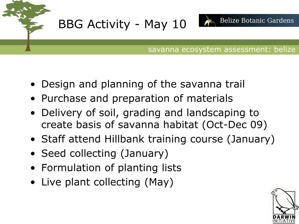 BBG Activity - May 10