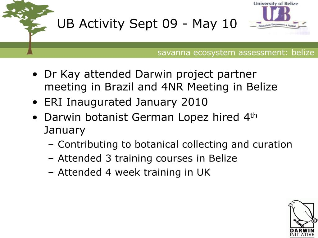 UB Activity Sept 09 - May 10