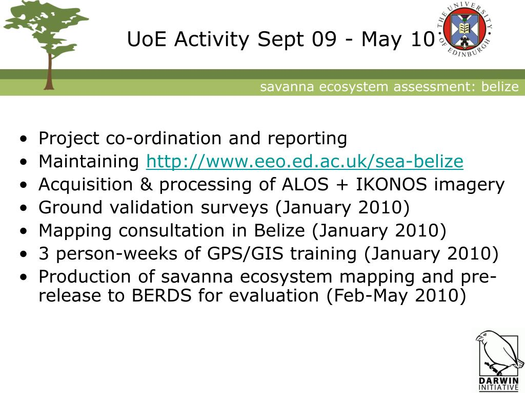 UoE Activity Sept 09 - May 10