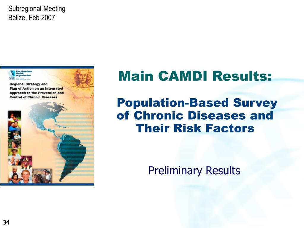 Main CAMDI Results: