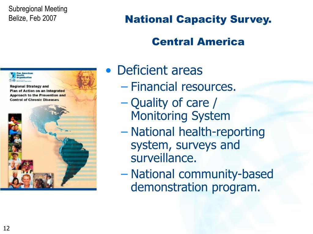 National Capacity Survey.