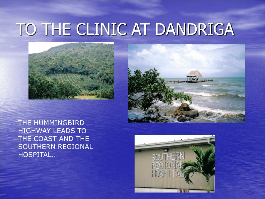 TO THE CLINIC AT DANDRIGA