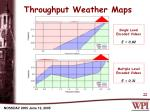 throughput weather maps