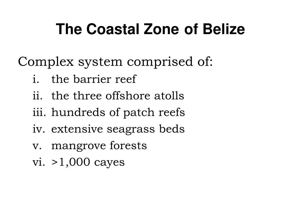 The Coastal Zone