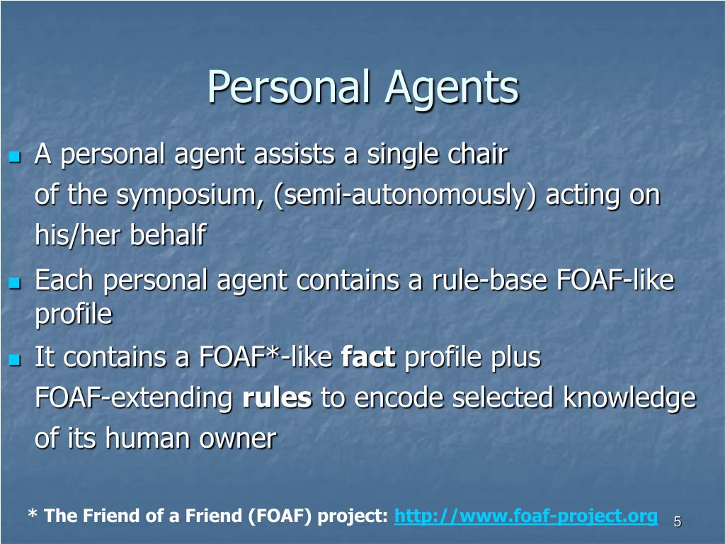 Personal Agents