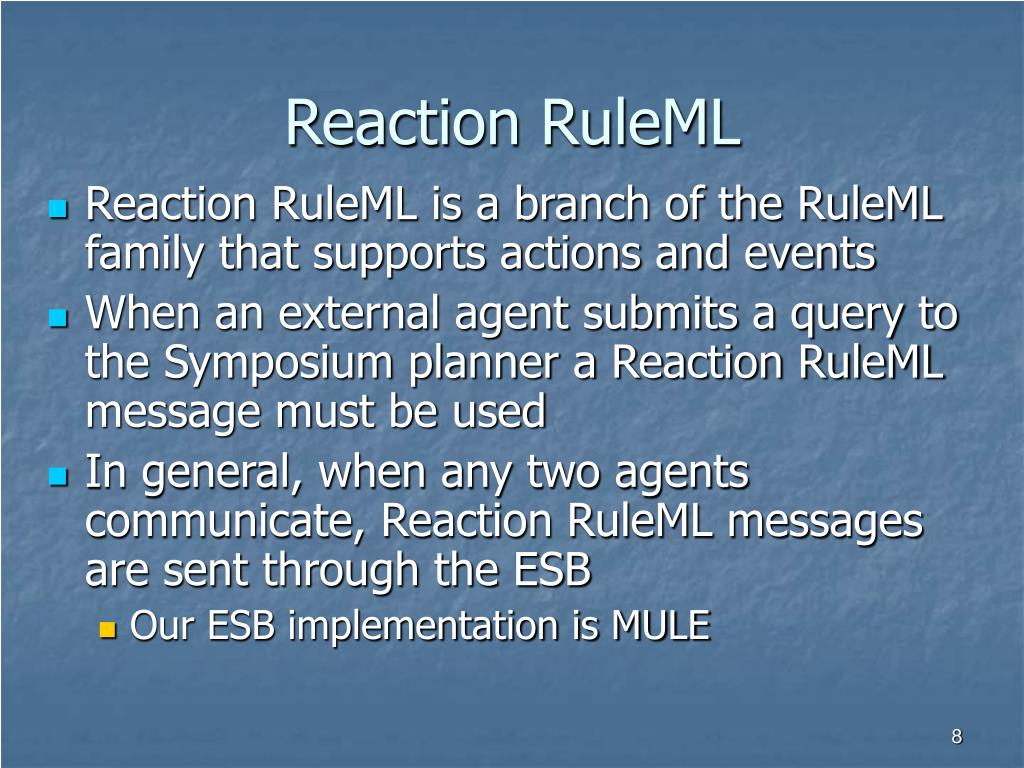 Reaction RuleML