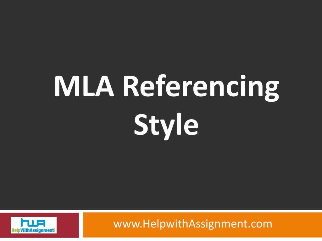 mla referencing style l.