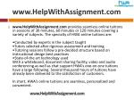 www helpwithassignment com