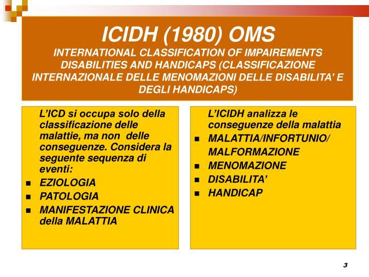 ICIDH (1980) OMS