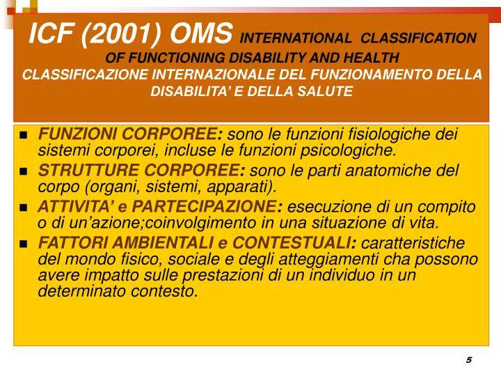 ICF (2001) OMS