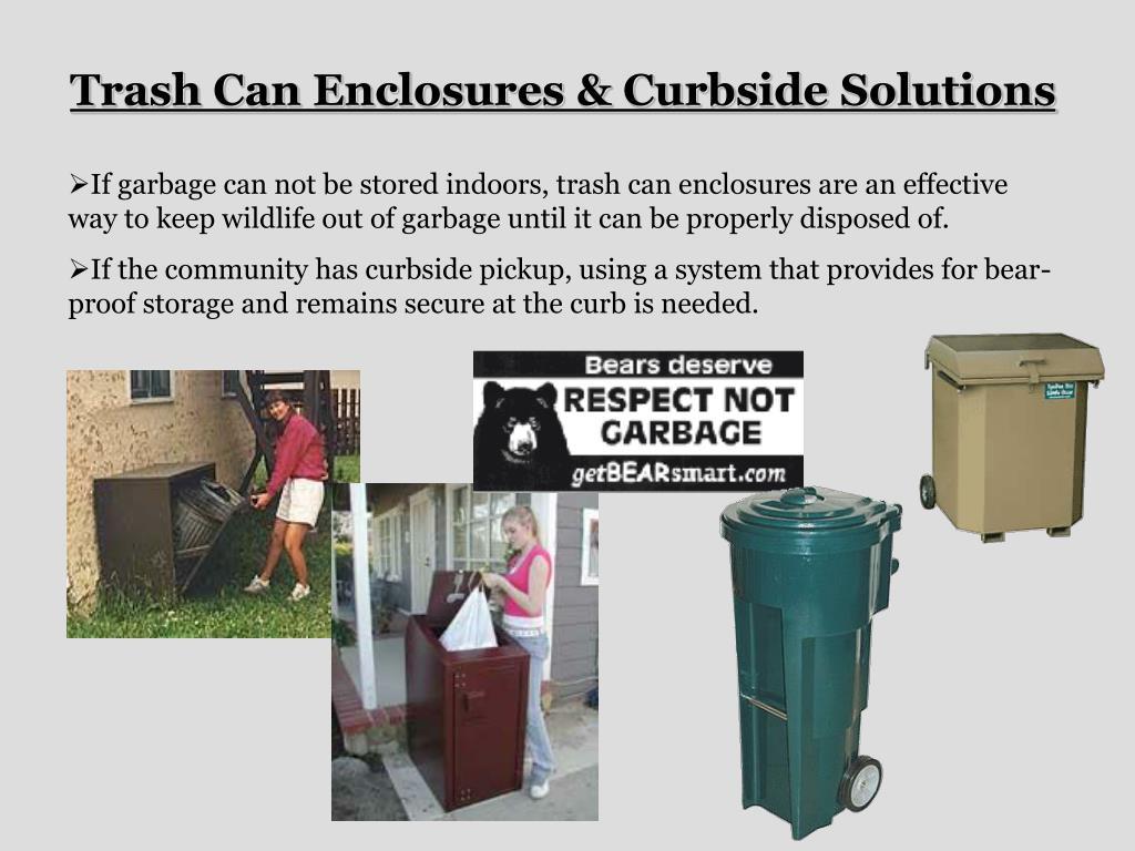 Trash Can Enclosures & Curbside Solutions