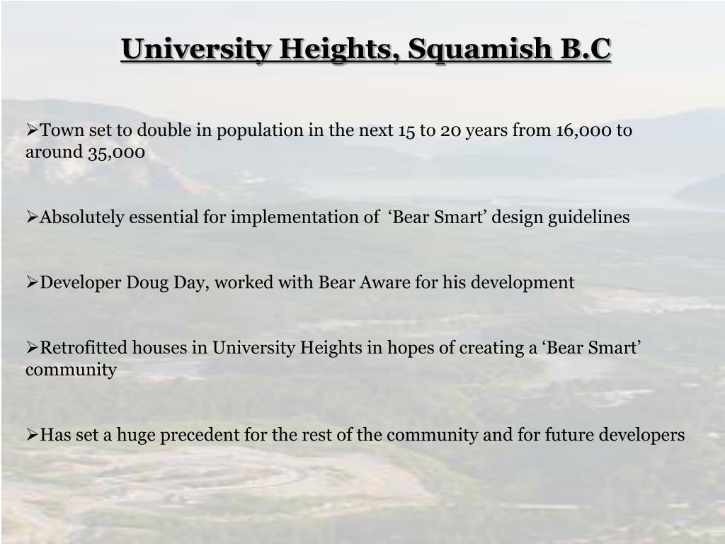 University Heights, Squamish B.C