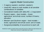 logistic model construction