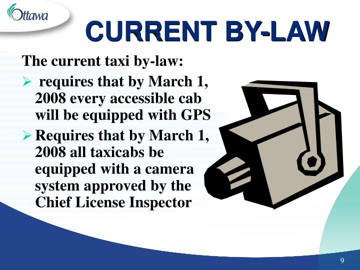 CURRENT BY-LAW