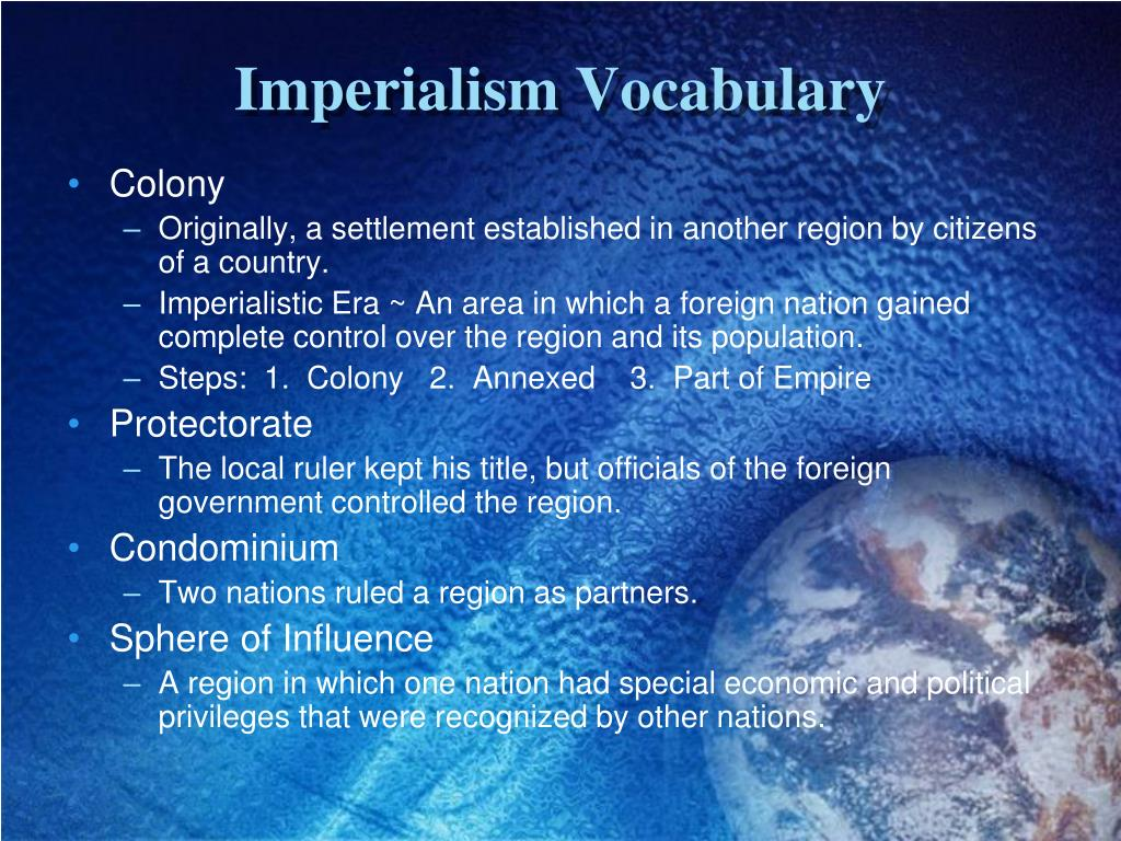 Imperialism Vocabulary