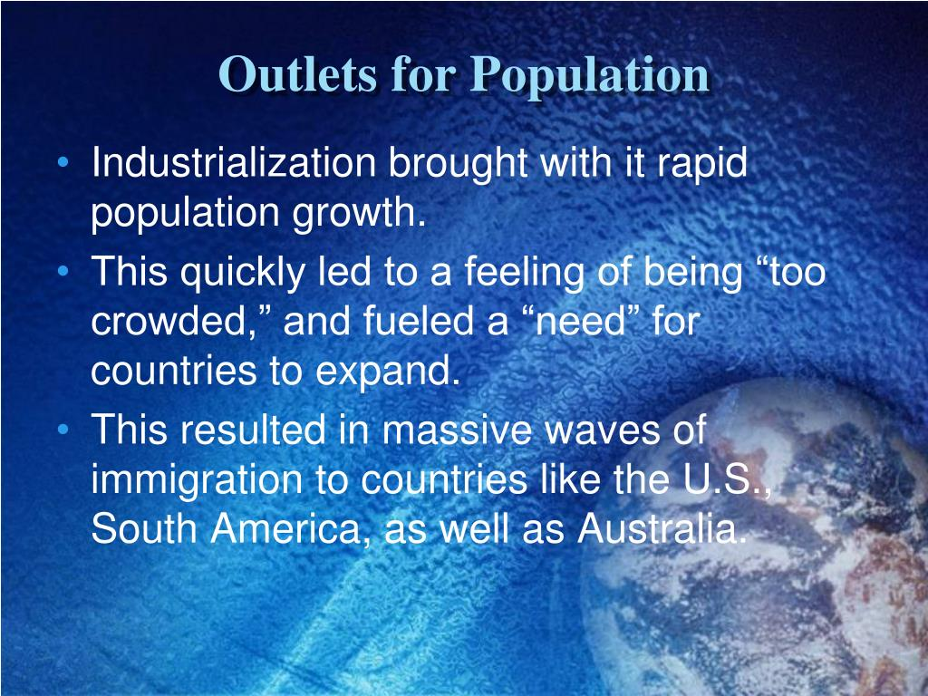 Outlets for Population
