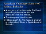 american veterinary society of animal behavior