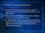 clicker training history