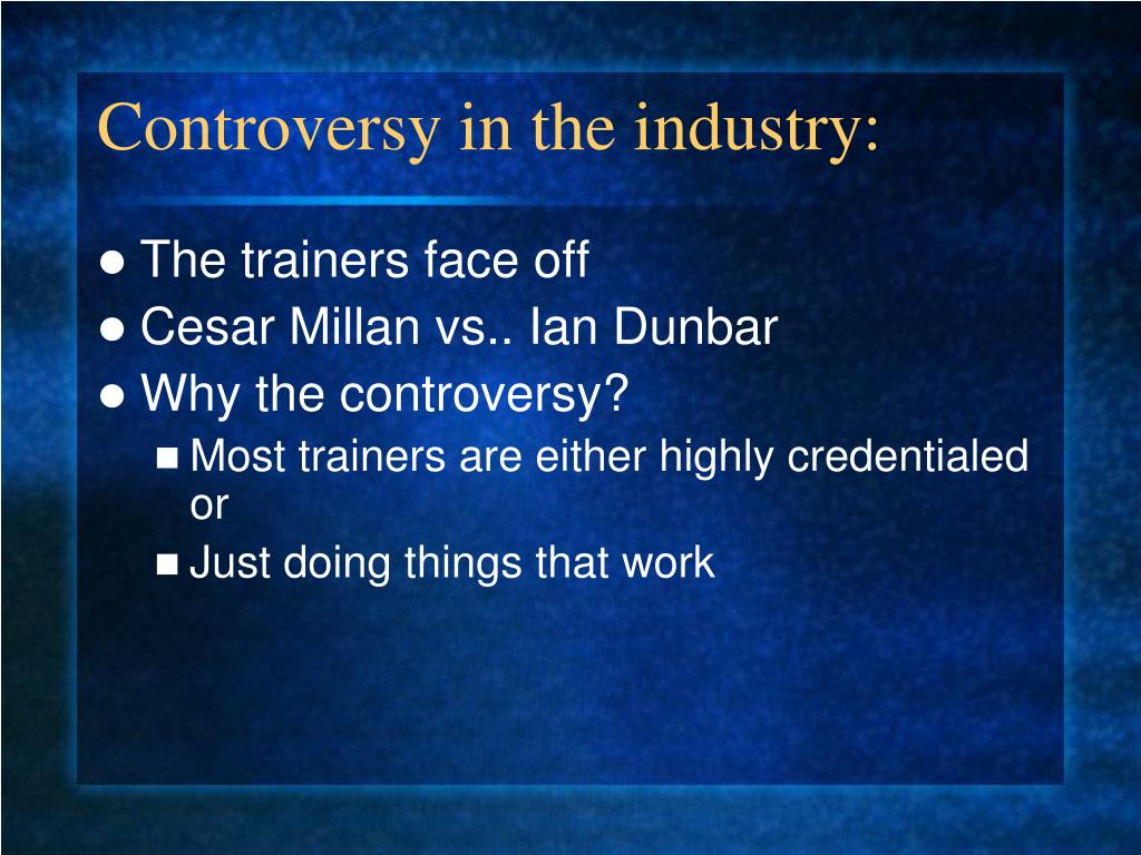 Controversy in the industry: