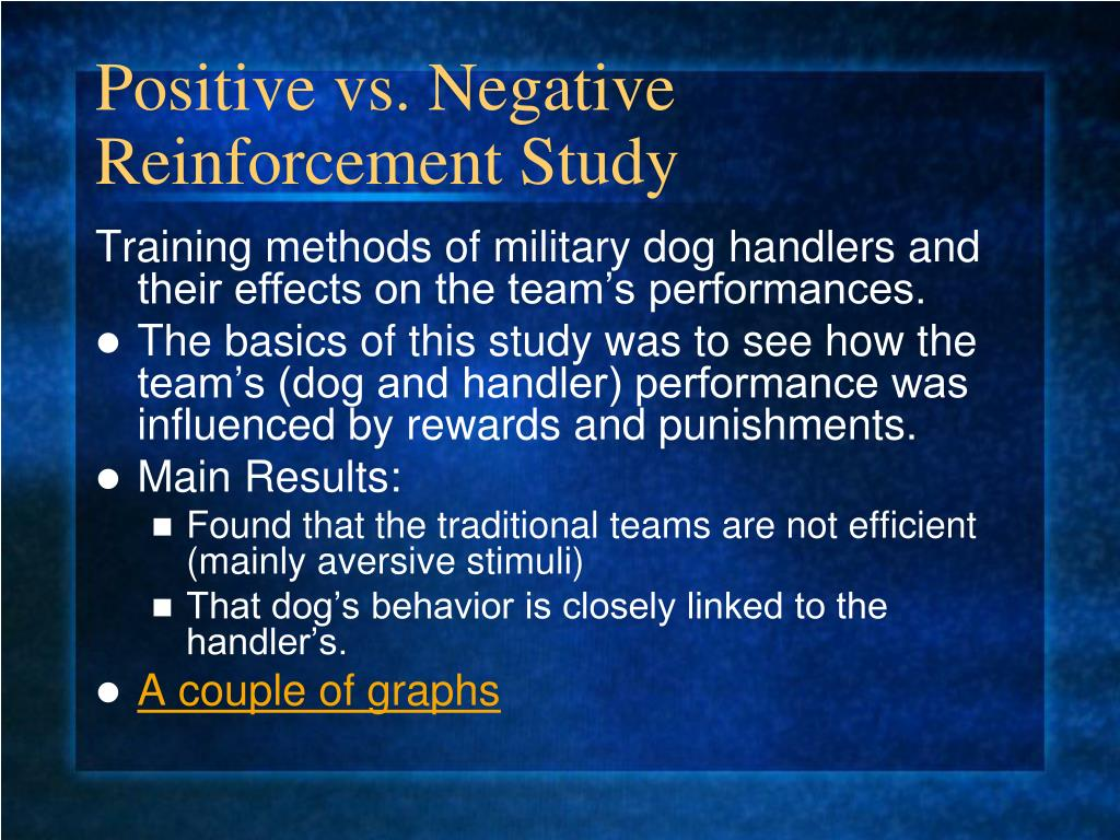 Positive vs. Negative Reinforcement Study