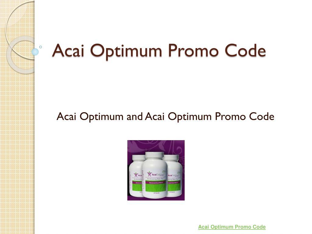 acai optimum promo code l.