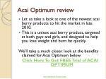 acai optimum review