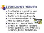 before desktop publishing