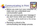 communicating in print1
