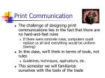 print communication