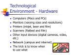 technological environment hardware
