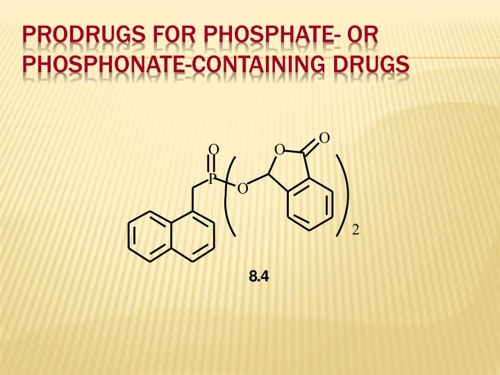 Prodrugs for Phosphate- or Phosphonate-Containing Drugs