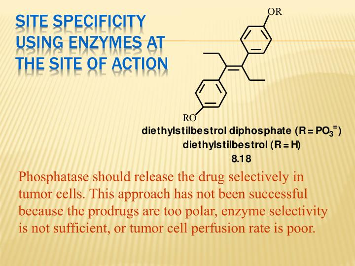 Site Specificity Using Enzymes at the Site of Action
