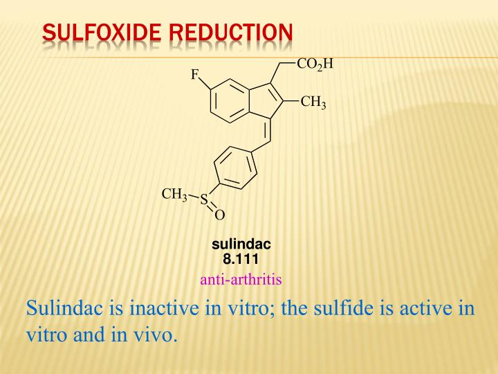 Sulfoxide Reduction