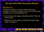 the call of the wild discussion starters18